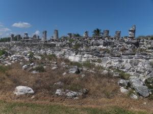Letzten Überreste der Maya Ruinen in El Rey.