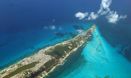 Luftaufnahme Insel Mujeres