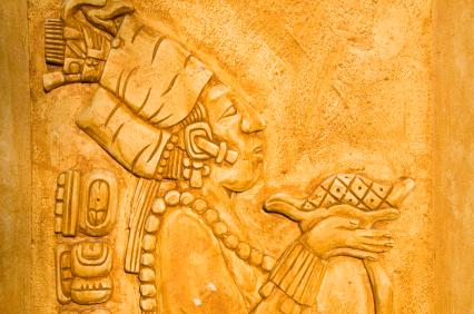 Maya Kultur Wandmalerei